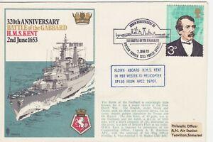 GB-Stamps-Souvenir-Cover-Royal-Navy-Battle-of-the-Gabbard-HMS-Kent-Dutch-1973