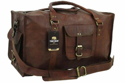 Bag Leather Duffle Men Roomy Travel Genuine Luggage Overnight Vintage Weekend