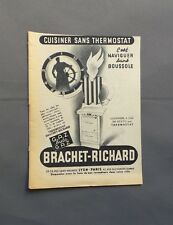 PUB PUBLICITE ANCIENNE ADVERT CLIPPING 100517 CUISINIERE BRACHET-RICHARD THERMO