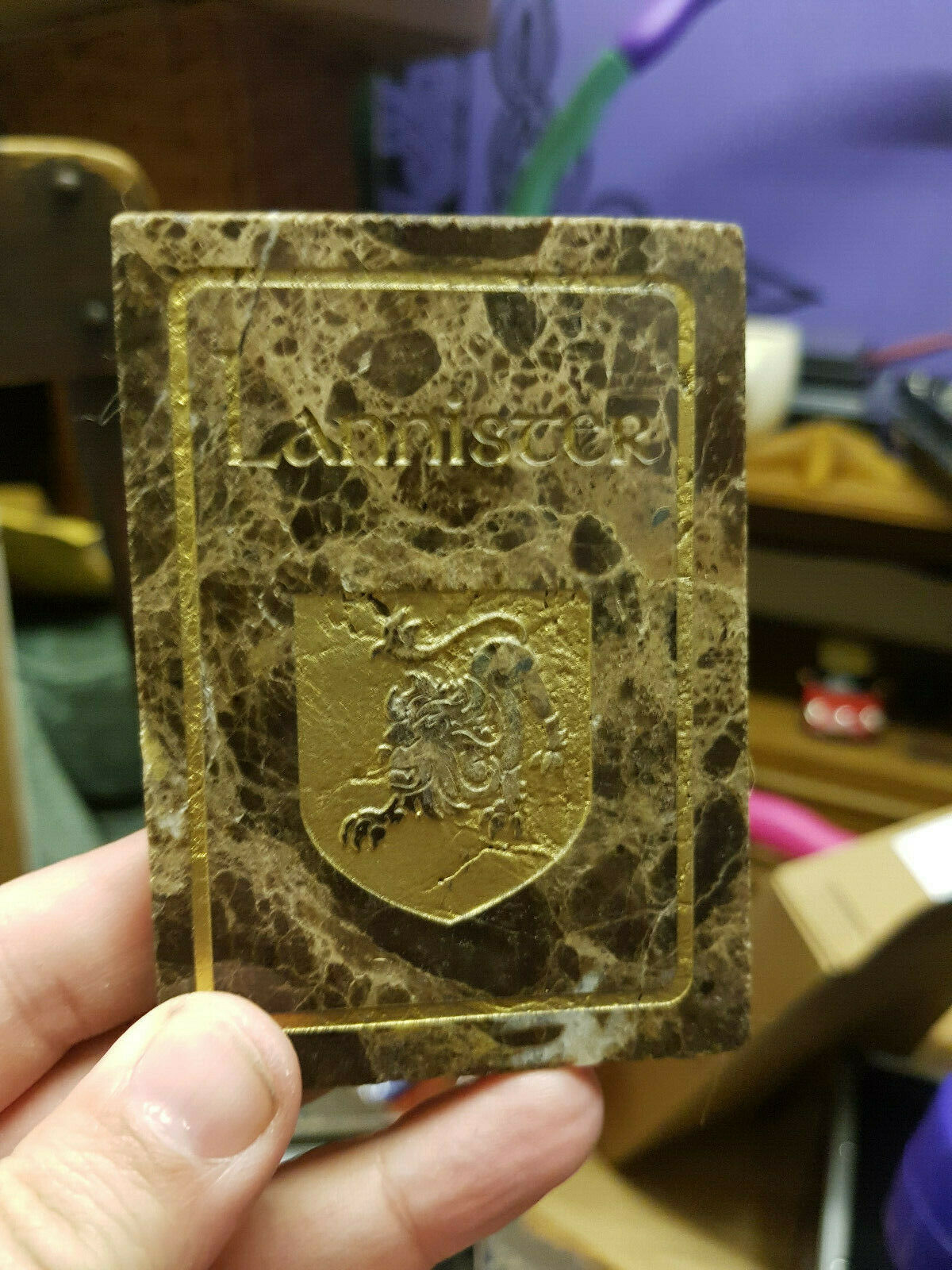 Game of Thrones CCG Lannister House Card + tin tin tin + deck dc0b1e
