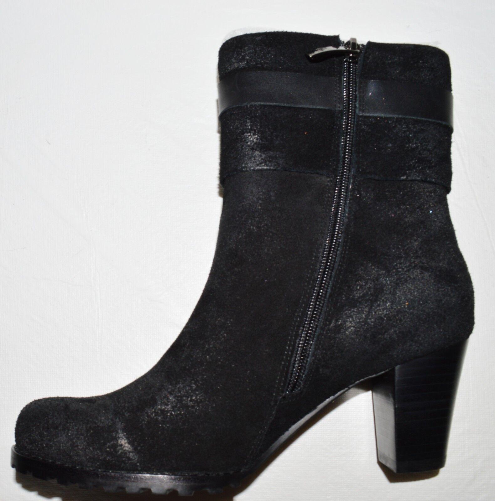 ANTELOPE ANTELOPE ANTELOPE NEW NIB SZ 7.5 M 38 EU BLACK SUEDE LEATHER ANKLE Stiefel BOOTIES HEELS fd78f1