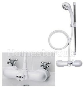 Croydex Bath Shower Mixer Set Bathroom Tub Tap Hose Hand