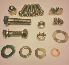 Norton Commando stainless steel kick start & gear box cover bolts, nuts, washers
