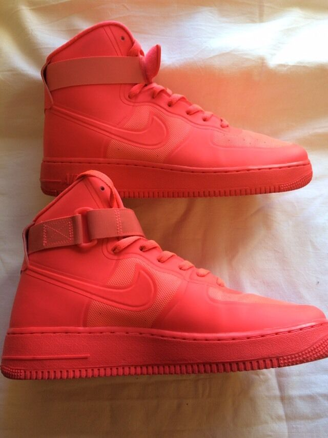 Limited Edition Nike Air Neon High Top Trainers Hommes 8 Hardly Worn RARE
