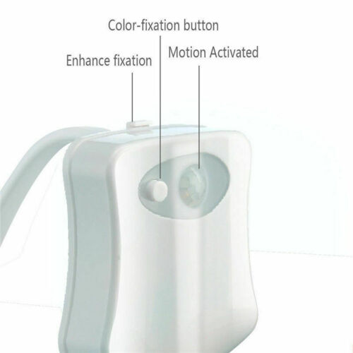 2 PK Bowl Bathroom Toilet LED 8 Color Lamp Sensor Lights Motion Activated Light