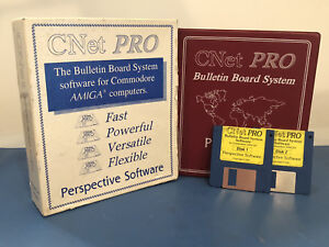 Details about Amiga CNet Pro BBS Software Version 3 with Retail Box /  Manual / Floppy Disks