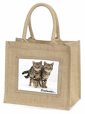 Braun Tabby Katzen Soulmates Große Natürliche Jute-einkaufstasche Weihnachten,