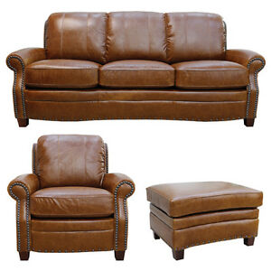 New Luke Leather Furniture Quot Ashton Quot Tan Leather Collection