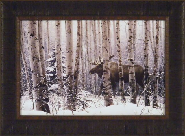 A Walk in the Woods by Stephen Lyman Moose Print 36x26
