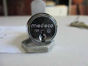 NOS-MEDECO-LOCK-72S-with-2-Keys-1-Catch-Pawl-Key-Tag-High-Security