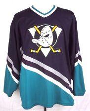 Anaheim Mighty Ducks Vintage CCM Maska NHL Hockey Jersey Sz Adult Large air knit
