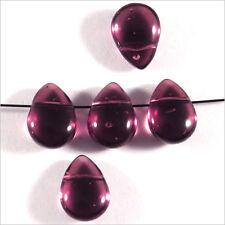 Lot de 20 Perles Tchèques Gouttes en verre 11x8mm Améthyste