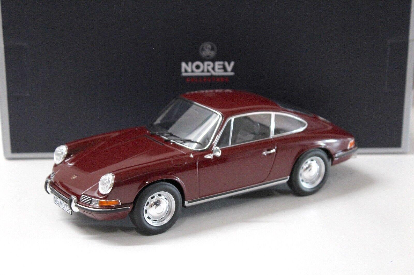 1 18 Norev Porsche 911 T 1969 dark red NEW bei PREMIUM-MODELCARS