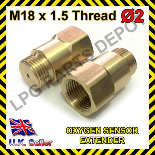 Lambda O2 Oxygen Sensor Extender Spacer for De-cat /& Hydrogen M18 x D2 BRASS