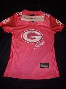 online retailer 4f0da 209c9 Details about Aaron Rodgers Green Bay Packers Reebok NFL Jersey Pink Ladies  Women's