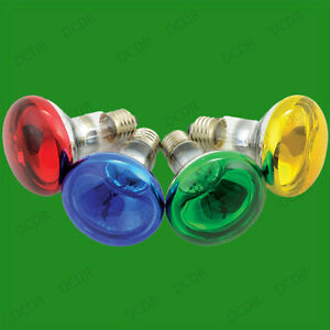 4x-60W-R80-de-Color-Reflector-Regulable-Disco-Bombillas-Foco-Es-E27-Lampara