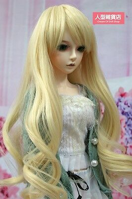 BJD Doll Hair Wig 9-10 inch 22-24cm Pale gold Perma-long 1/3 SD DZ DOD LUTS