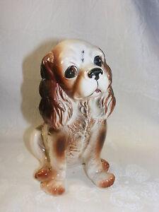 """Vintage Porcelain Figurine Large 6"""" Cocker Spaniel Dog Sitting"""