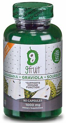 Guanabana Fruit EXTRA STRENGTH 1000 mg 90 CAPSULES  Graviola Soursop Made in USA