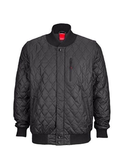 Nike Sz S Mens Air Quilted Zip Off Varsity Jacket Vest 689376 010