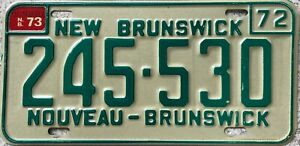 GENUINE-Canada-1972-Nouveau-New-Brunswick-License-Licence-Number-Plate-245-530