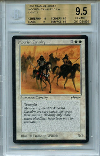 MTG Arabian Nights Moorish Cavalry BGS 9.5 Gem Mint Magic Card Light 4994
