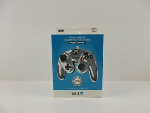 Wired-Fight-Pad-for-Wii-U-Metal-Mario-Super-Smash-Bros-For-Wii-amp-Wii-U-NEW