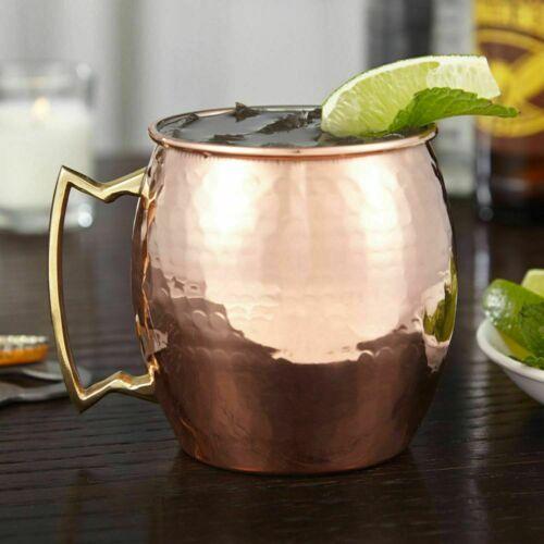 Details about  /Handmade Leak Proof Copper Water Hammered+Plain Bottle 700ml Jug+Mug Set Of 6