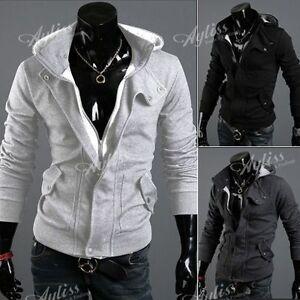 Herren-Pullover-Hoodie-Jacket-Kapuzenpullover-Jacke-Sweatshirt-Strickjacke-M-3XL