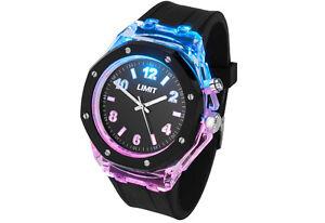 LED-Estroboscopico-Reloj-por-limite-con-increible-efecto-de-luz-Unisex-Correa-De-Goma-Nuevo-en