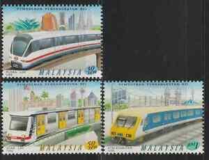 (227)MALAYSIA 1998 MODERNISATION  OF RAIL TRANSPORT SET FRESH MNH.