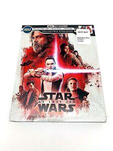Star Wars The Last Jedi 4k Ultra Hd Blu Ray Digital Collectible Steelbook New 786936857269 Ebay