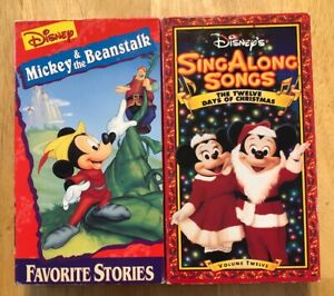 Disney Sing Along Songs Christmas Vhs.Details About Lot 2 Mickey Beanstalk Disney Sing Along Songs Twelve Days Of Christmas Vhs