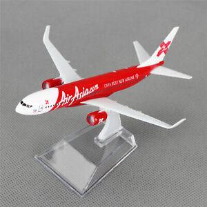 New-16cm-Aircraft-Plane-Boeing-737-Air-Asia-com-Airlines-Diecast-Model