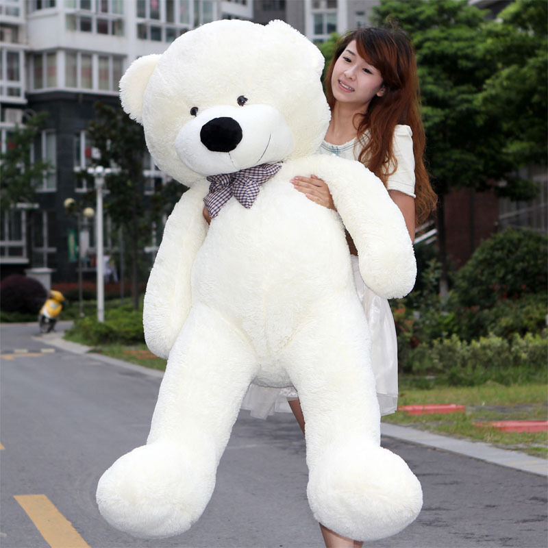 55'' GIANT BIG STUFFED ANIMAL bianca  Tie bow teddy bear plush soft toys 140cm