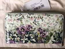 Bnwt Ted Baker Enchantment Floral Large Zip Around Purse Dawson
