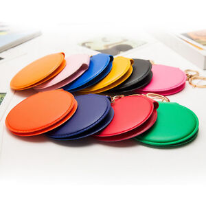 Mini-Round-Lady-Makeup-Mirror-Portable-Compact-Pocket-Cosmetic-Mirror-Keyring-AT