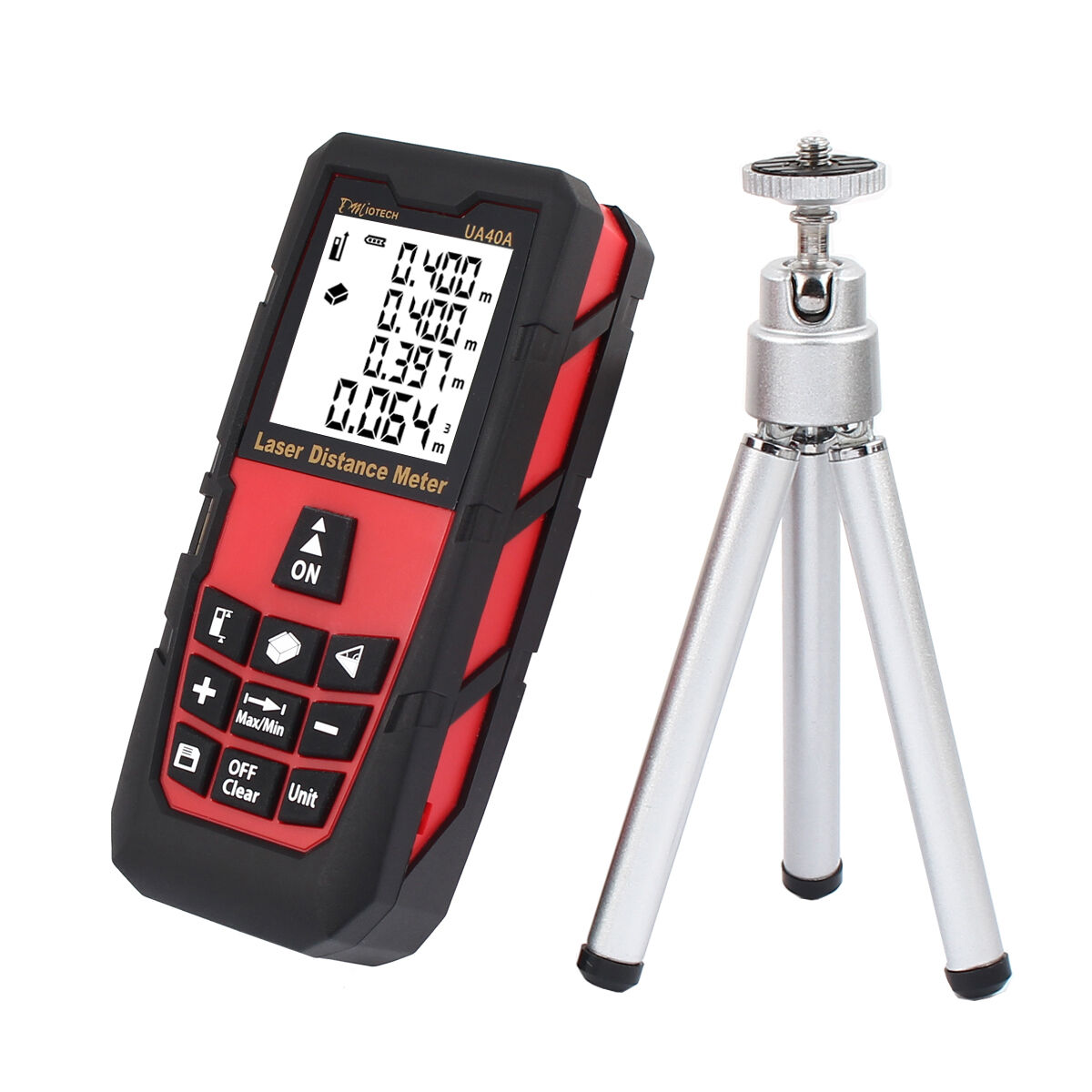 Digital LCD Laser Distance Meter Range Finder Measure Tape Tool With Tripod