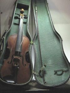 Old 1/2 Size HOPF Violin w. Bow and Case ~ FREE S/H