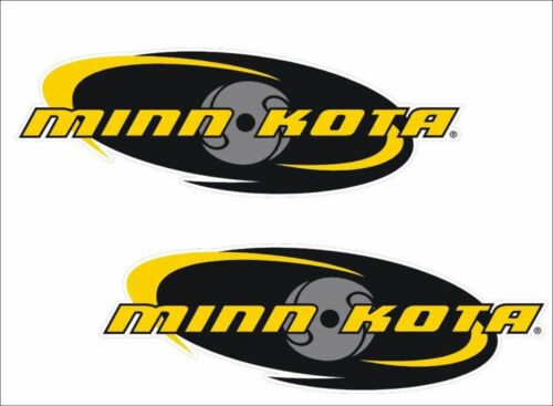 "PAIR 6/"" OVAL Vinyl Vehicle Boats Tackle Graphics Decals MINN-KOTA Fishing"