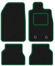 SMART Forum 2007 in poi Su Misura Nero Tappetini Auto con finitura verde