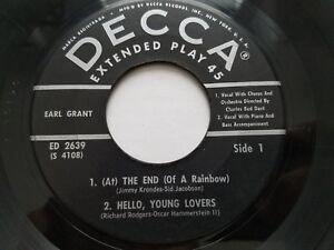 EARL-GRANT-The-End-RARE-1959-7-034-EP-DECCA-Jazz-Pop