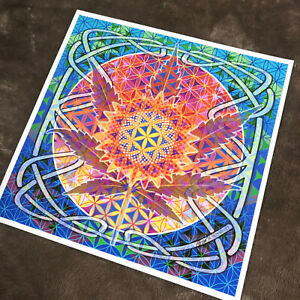 Signed Chakras Sacred Geometry Meditation Art Print Giclee 2020 B.Woodruff