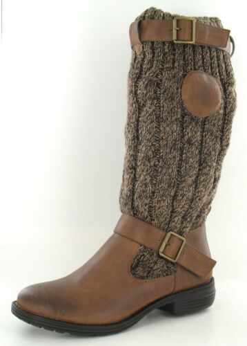 R22C Down to Earth Ladies Tan Knitted Upper Boot F5R983 Sizes