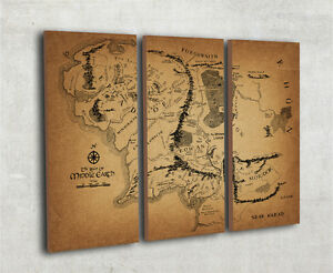 Map Of Middle Earth Lord of the rings map Middle earth wall map