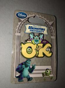 Disney Store Monsters University Oozma Kappa Fraternity Logo Pin Sulley Mike Ebay