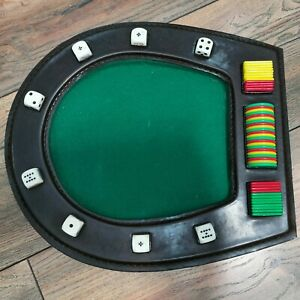 Vintage-Poker-Dice-and-Small-Table-with-Betting-Chips