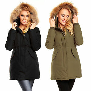 1886 damen parka trend jacke echtes fell blogger outdoor mantel winter kapuze ebay. Black Bedroom Furniture Sets. Home Design Ideas