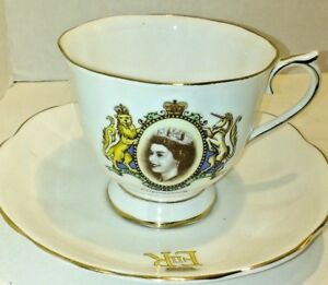 Vintage-Queen-Elizabeth-II-Coronation-Cup-and-Saucer-by-Royal-Albert-Bone-China