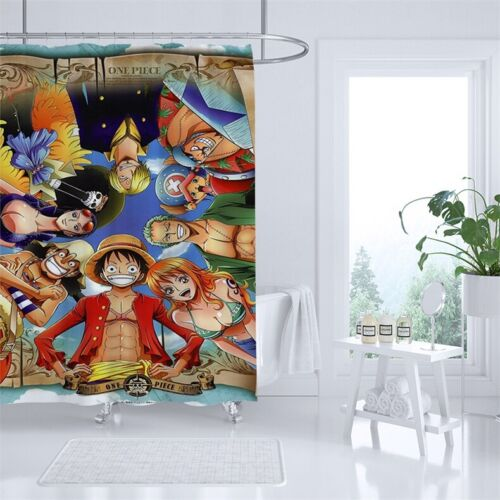 One Piece Shower Curtain Waterproof Bathroom Decor C Type Hooks Easy To Install